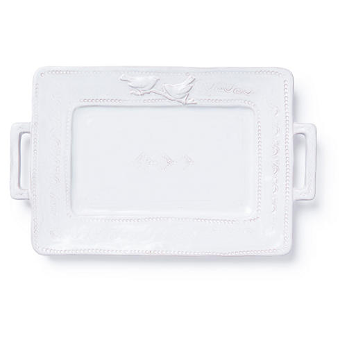 Bellezza Rectangular Platter, White