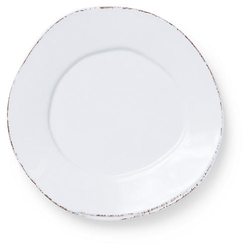Lastra Melamine Salad Plate, White