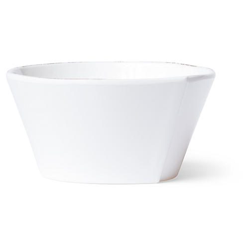 Lastra Melamine Stacking Cereal Bowl, White