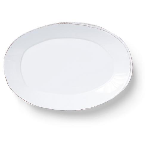 Lastra Melamine Platter, White