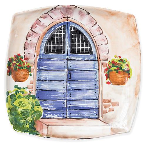 Tuscan Door Wall Plate, Blue/Multi