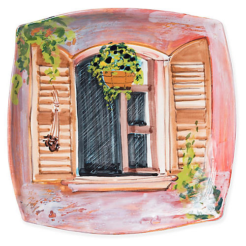 Summer Breeze Wall Plate, Pink/Multi