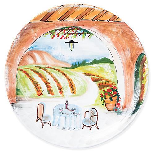 Tuscan Vineyard Wall Plate, Green/Multi