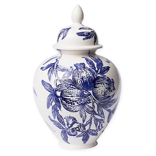 """18"""" Melagrana Large Jar, Blue/White"""