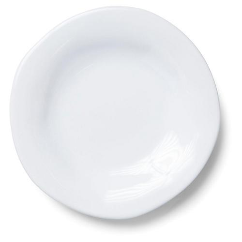 Aurora Salad Plate, Snow