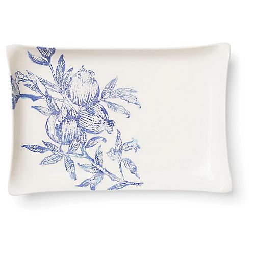 Melagrana Rectangular Platter, Blue/Ivory