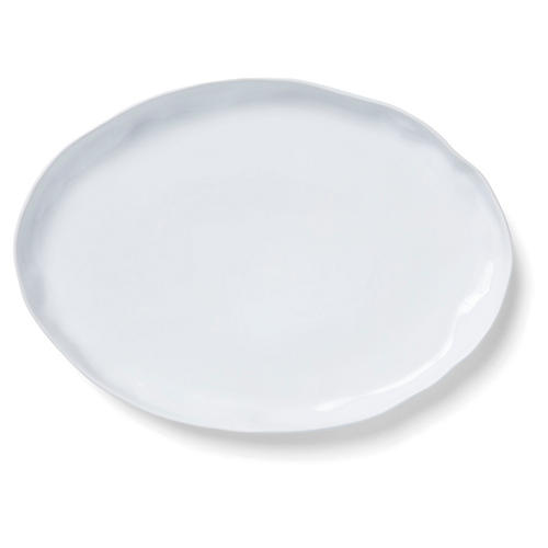 Aurora Oval Platter, Snow