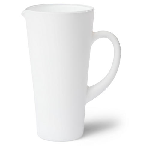 Matte Pitcher, White