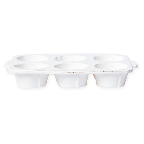 Lastra Muffin Tin, White