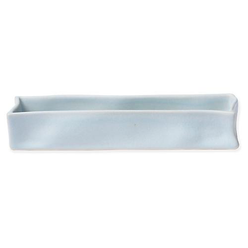 Essentials Rectangular Vanity Tray, Matte Blue