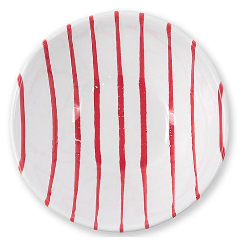 Stripe Cereal Bowl, Red