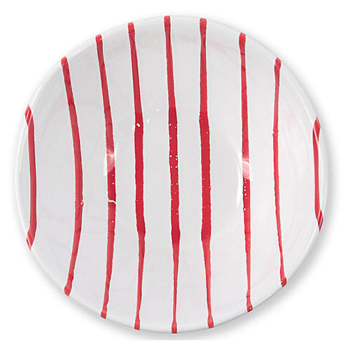 Stripe Cereal Bowl, Red
