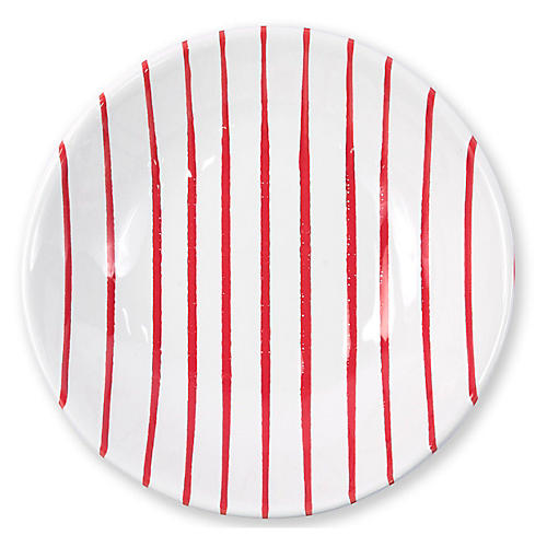 Stripe Pasta Bowl, Red