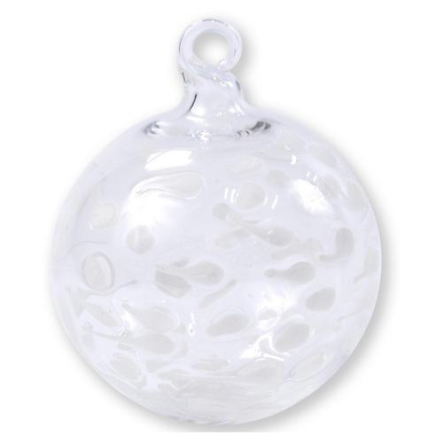 Speckle Ball Ornament, White