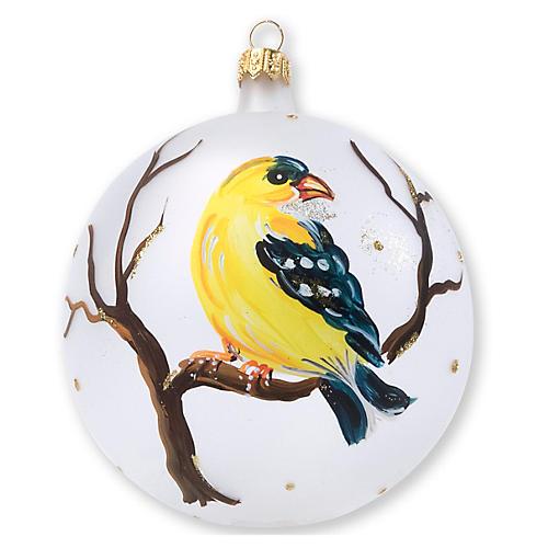 Finch Ornament, Yellow