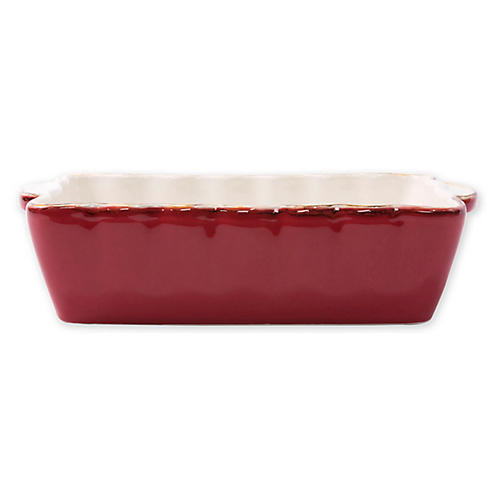 Italian Bakers Rectangluar Baker, Red