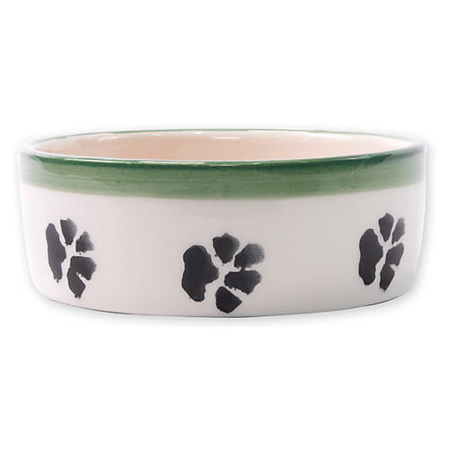Old St. Nick Dog Bowl, White