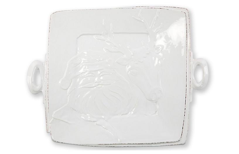 Lastra Winterland Square Platter, White