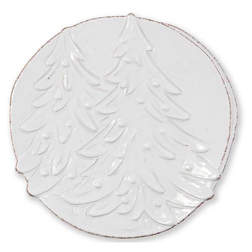 Lastra Winterland Round Platter, White