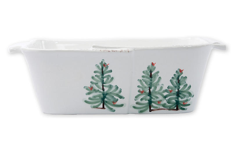 Lastra Holiday Loaf Pan, White