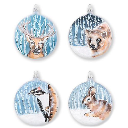 Asst. of 4 Into the Woods Ornaments, Blue