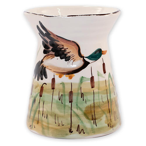 Wildlife Mallard Utensil Holder, White