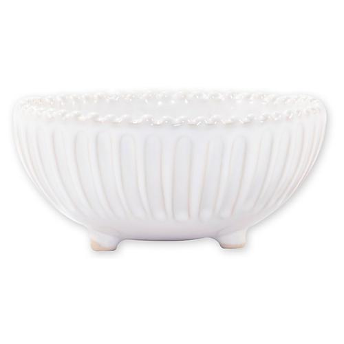 Incanto Stone Footed Bowl, White