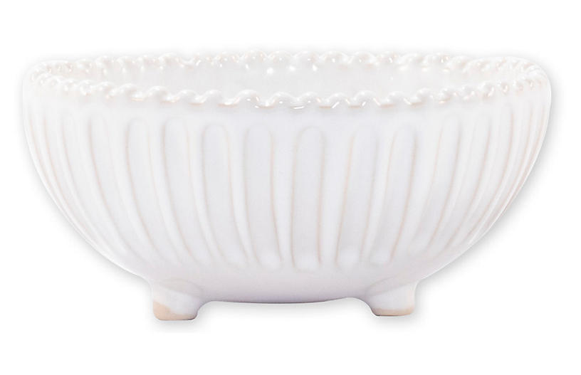 Incanto Stone Footed Bowl, White