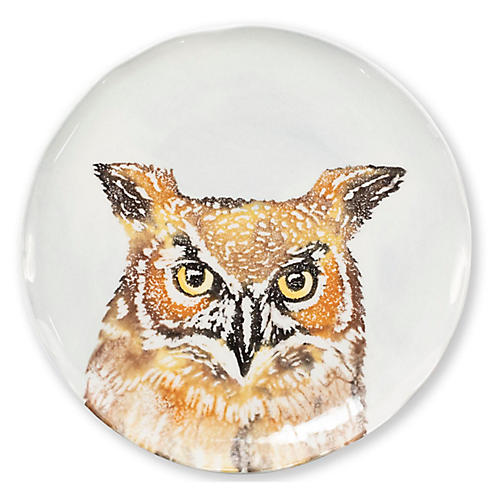 Into the Woods Owl Salad Plate, White