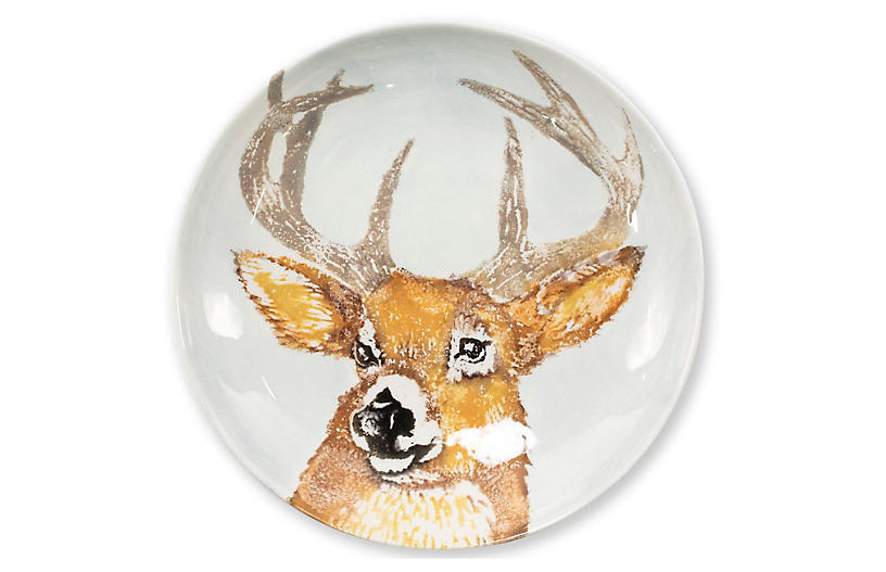 Into the Woods Deer Pasta Bowl, White