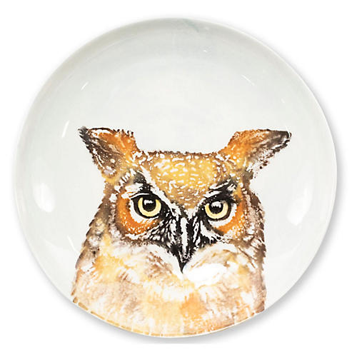 Into the Woods Owl Pasta Bowl, White