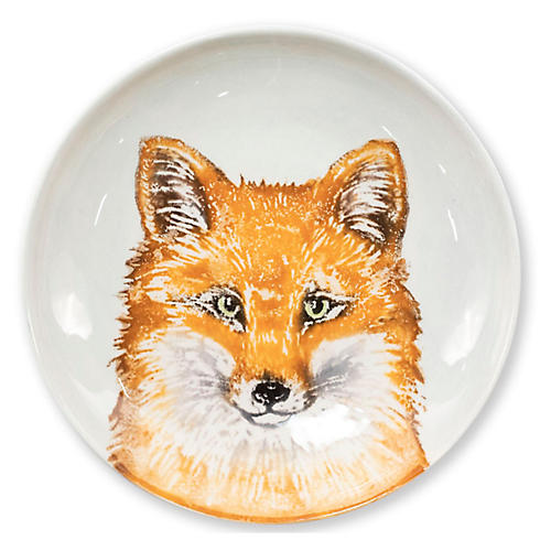 Into the Woods Fox Pasta Bowl, White