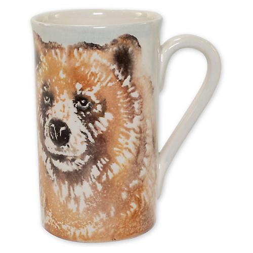 Into the Woods Bear Mug, White