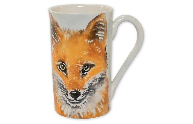 Into the Woods Fox Mug, White