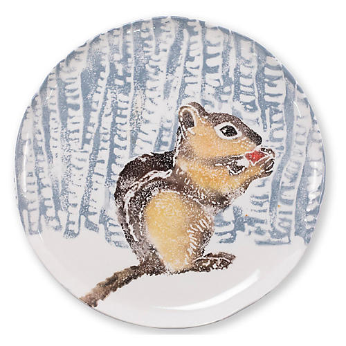 Into the Woods Chipmunk Platter, Blue