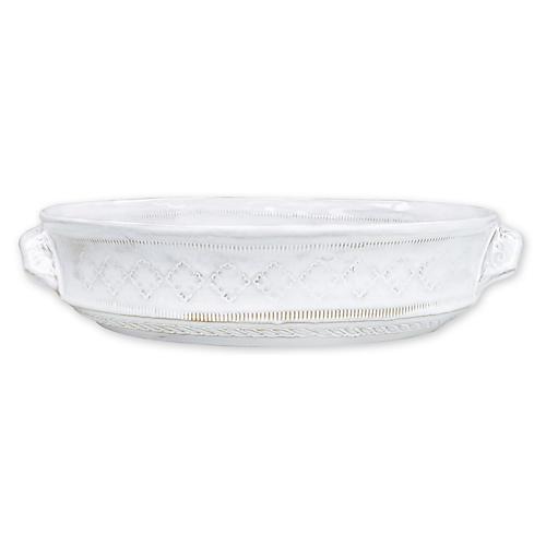 Bellezza Stone Baking Dish, White