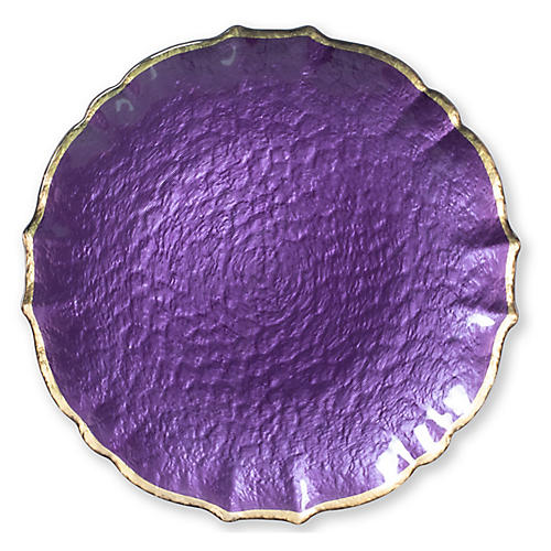 Pastel Glass Charger, Purple