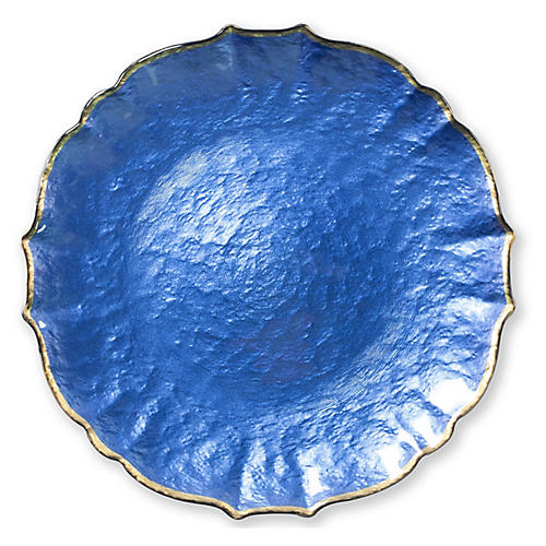 Pastel Glass Charger, Cobalt