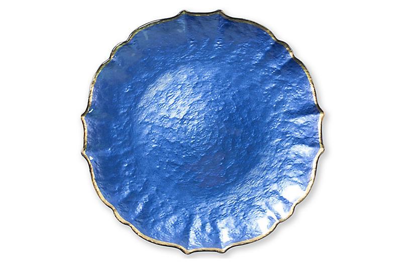 Pastel Glass Charger, Cobalt