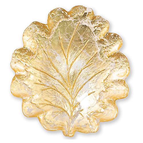 Moon Leaf Salad Plate, Gold