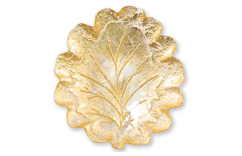 Moon Leaf Salad Plate, Gold