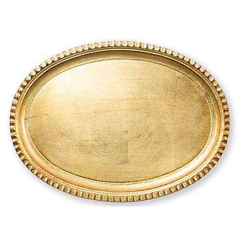 Florentine Oval Tray, Gold