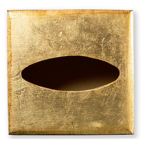 Florentine Tissue Box, Gold