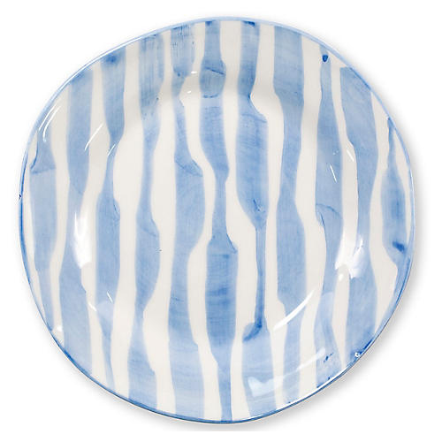 Modello Stripe Salad Plate, Blue