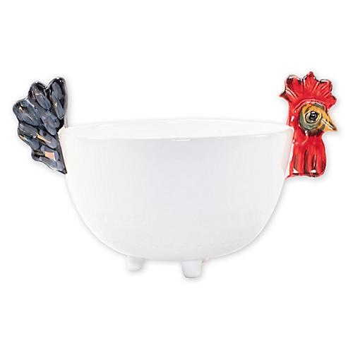 Fortunata Figural Deep Bowl, White