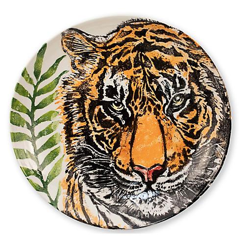 Into The Jungle Tiger Bowl, White