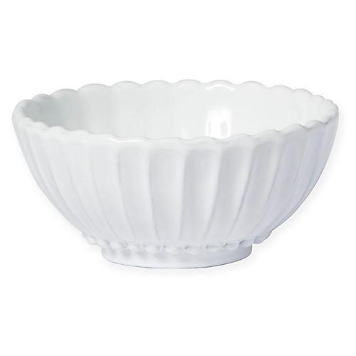 Incanto Stone Stripe Bowl, White