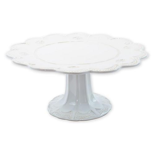 Incanto Stone Large Cake Stand, White