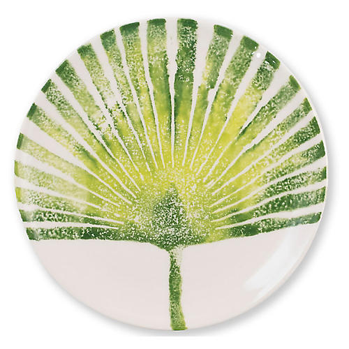 Into The Jungle Palm Leaf Salad Plate, White