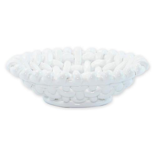 Woven Basket, White